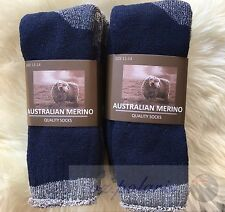 6 PAIRS SIZE11-14 HEAVY DUTY AUSTRALIAN MERINO EXTRA THICK WOOL WORK SOCKS BLUE