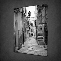 ALLEY IN ITALY BLACK AND WHITE CANVAS WALL ART PRINT PICTURE READY TO HANG