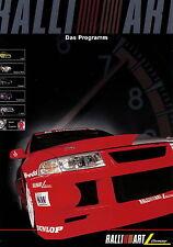 Ralliart Mitsubishi Prospekt 2002 Colt Space Star Galant Carisma L200 brochure