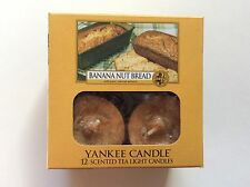 YANKEE CANDLE BANANA NUT BREAD TEALIGHTS BOX OF 12 HTF RETIRED SCENT