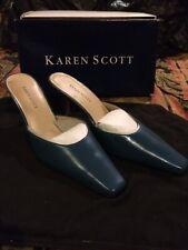 KAREN SCOTT BLUE LEATHER SLIP ON SHOES SIZE 9.5 RETAIL $130