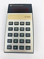 1977 Texas Instruments TI-1000 Red LED 5 Function Calculator + Box for parts