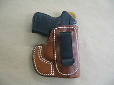 Keltec P3AT .380 IWB In Waistband Leather Concealed Carry Custom Holster TAN RH
