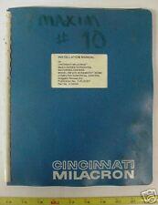 Cincinnati Milacron Installation Manual Acramatic 950mc
