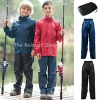 KIDS REGATTA BREATHABLE PACKAWAY  WATERPROOF TROUSERS 2-16yrs
