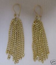1940 HAND MADE DANGLE CHAIN  EARRINGS LOCKING PIERCED WIRES
