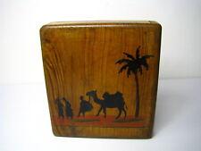 OLIVEWOOD OLIVE WOOD CIGARETTE CASE BOX Holy Land Palestine Middle East c1920-40