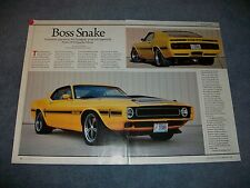 """1970 Ford Mustang Goodguys Giveaway Car Article """"Boss Snake"""" 429 520 Sportsroof"""