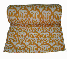 Artisan of India Handmade Kantha Bed Throw Kantha Quilted Bedspread Twin Size