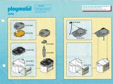 Playmobil Bauanleitung 3968 Bauküche