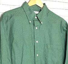 Turnbury Men's Dress Shirt Size L Button Down Long Sleeve Green Blue Plaid NWOT