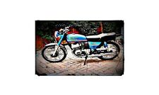 1981 sb200 Bike Motorcycle A4 Retro Metal Sign Aluminium