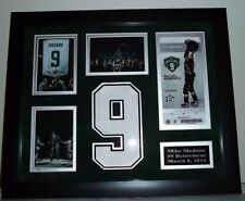 NHL Dallas Stars 15x18 Framed Mike Modano Hockey Jersey Retirement Momento