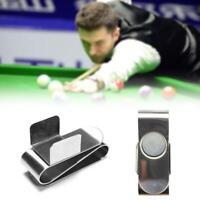 Chalk Holder Billiard Pool Cue Snooker Strong Magnetic Silver 70x22x10mm