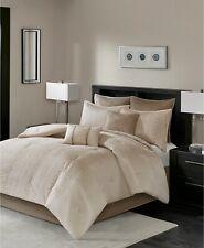 Madison Park 8 Pc CAL KING Comforter Set Camelia NATURAL E9Y028