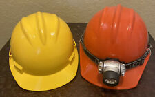 Lot of 2 BULLARD Hard Hat C30 Orange with head lamp and S61 Yellow