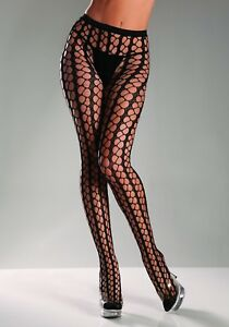 NWT sexy BE WICKED! warning NET seamless TIGHTS pantyhose NYLONS netted HOSIERY