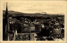 Liberec Reichenberg Tschechien s/w AK 1947 gelaufen Teilansicht mit Rathaus Turm