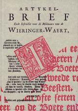 ARTYKEL BRIEF ENDE INSTRUCTIE VOOR DE MOLENAARS VAN DE WIERINGER-WAERT