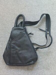 Jobis Black Leather Backpack