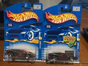 2001 Hot Wheels Lot of Two Silver Bullet/Aeroflash #229