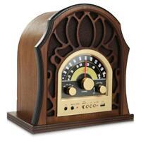 Pyle PUNP37BT Vintage Style BT Radio Classic Design Stereo Speaker System