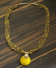 Indian Tibetan Beads Multi strand Layered Boho Gypsy Fashion Necklace Pendant