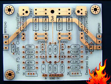 One pair 25W Single-ended Pure Class A Power amp PCB base on PASS F5
