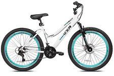 """NEW 26"""" Women's Kent KZR Mountain Bike White/Teal 21-Speed Shimano Bicycle"""