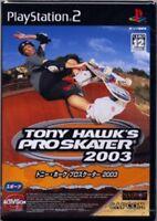 USED PS2 TONY HAWK'S PRO SKATER 2003