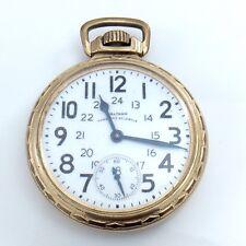 23 Jewel Waltham 10k Gold Filled Case Running Untimed Sold Parts Value H293