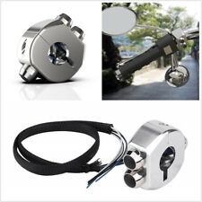 Motorcycle Handlebar Mount 7/8'' Silver CNC Aluminum 3 Buttons Self Latch Switch