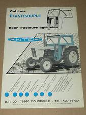 Prospectus  Tracteur DAVID BRWN Cabine ANTEM  prospekt  brochure tractor traktor