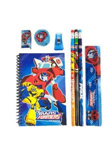 Transformers Animated Optimus Prime Stationary Set Pencils Eraser Sharpener blue