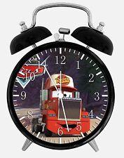 "Disney Cars Mack Alarm Desk Clock 3.75"" Room Office Decor X24 Nice For Gift"