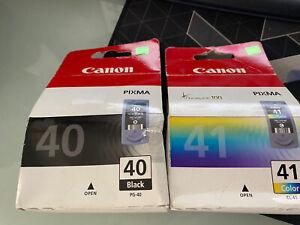 Original Canon 40 BLACK & CL41 Ink Cartridge Colour 2017 SET