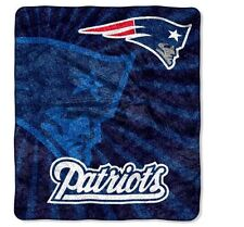 "NFL New England Patriots Throw Blanket Throw 50"" x 60"" Football Fleece Team Soft"