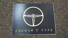 Jaguar E-TYPE 1961 sales brochure-Softback-Spiral Bound réimpression - 12pg