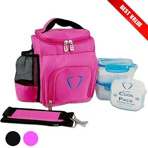 Lunch Bag Ladies Work Portable Insulated Carry Tote Cooler Gym Fitness for Women