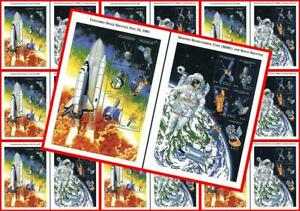 🚀 ANTIGUA 1990//2000 SPACE CONQUEST x 80 (EIGHTY !!) M/S MNH $$ wholesale $$ 🚀