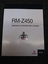 SUZUKI RMZ450 2014 ORIGINE Italien Owners Workshop, Manuel d'entretien rm2771