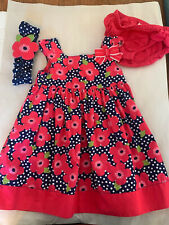 12-18 Mo Gymboree Sundress Spring Easter Summer Sleeveless Blue Pink Flowers Set