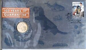 2008 PNC 100 Years of Quarantine $1 Coin + FDC  Stamp