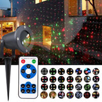 Christmas LED Laser Projector Lights Moving Landscape Garden Outdoor Waterproof