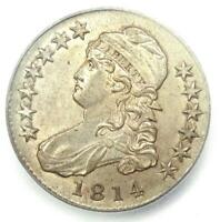 1814 Capped Bust Half Dollar 50C Coin - Certified ICG MS62 (BU) - $3,310 Value!