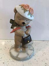 B&G Bing & Grondahl 1998 Victoria Porcelain Teddy Bear Figurine Shopping Purse