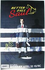 BETTER CALL SAUL CAST SIGNED 11x17 PHOTO 7x BOB ODENKIRK VINCE GILLIGAN DC/COA
