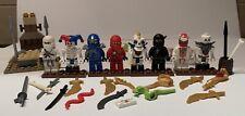 8 Lego Ninjago Minifigures Skeletons Weapons LOT DX skeleton RARER MINI FIGURES