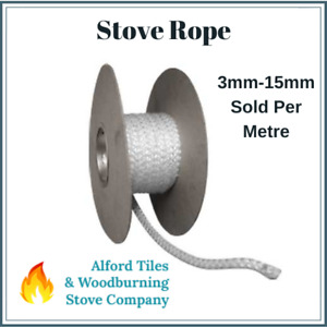 Stove Rope 3, 4, 5, 6, 7, 8, 9, 10, 12, 14, 15mm for Door/Glass and Flue Seals