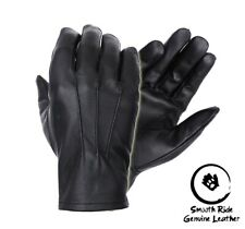 Men's genuine leather Unlined driving gloves with snaps Perfect Fit Premium Soft
